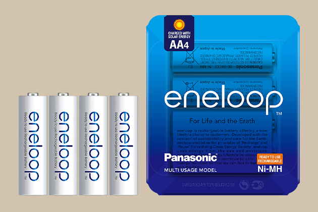 eneloop series storage packaging for EC (e-Commerce)